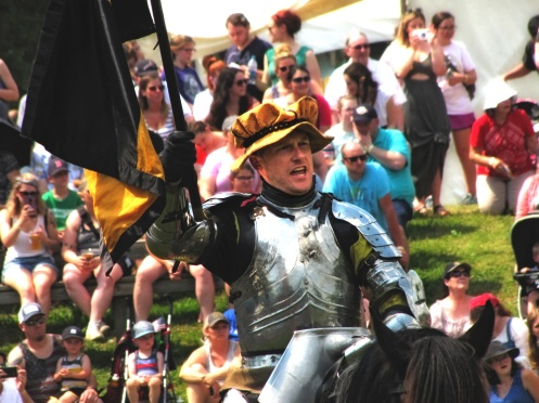 Knoght on horse back at Tn Renaissance Festival